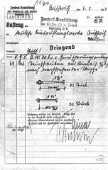 MATTOGNO_Fotografia 4,Auftrag della Zentralbauleitung,alla W.L. Schlosserei n. 67,del 6 marzo 1943. Recto.jpg